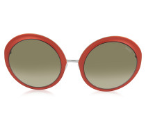 E38 Damen Sonnenbrille in ovaler Form aus Acetat