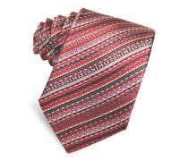 Schmale Krawatte aus Seide mit diagonalen Streifen und Logo