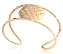Melrose Yellow Gold Over Bronze Cuff Bracelet