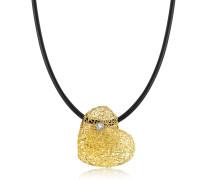 Heart Halskette aus Gelbgold mit Diamanten besetzt