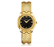 DV25 Damenuhr in gold mit schwarz