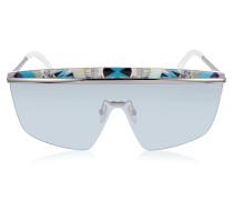EP0007 Fantasy Metal Shield Sunglasses