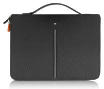 Web File 2 Black Leather and Nylon 13'' Laptop Case