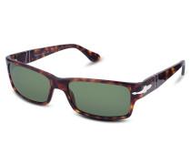 Rechteckige Sonnenbrille mit Kunststoffgestell und Logo