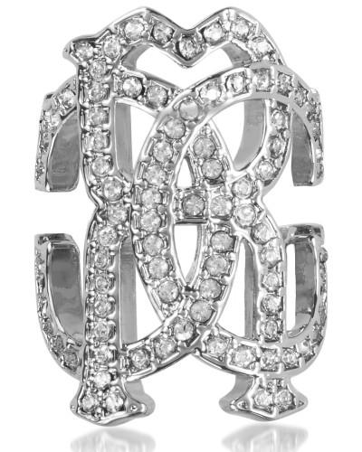 RC Icon Silvertone Ring w/Crystals