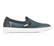Grove Avion Herren Slip On Sneaker aus Satin mit Mini Gummistar