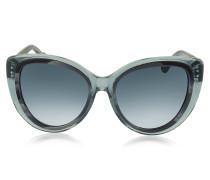 BA0026 92W Cat Eye Sonnenbrille in grau&dunkelgrau meliert
