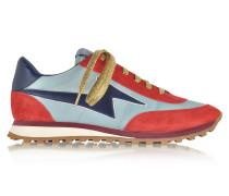 Astor Leder und Nylon-Sneaker in rot und blau