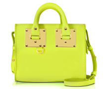 Chartreuse Albion Saddle Leather Box Tote Bag