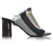 Ginepro High Heel Sandale aus gewobenem Leder