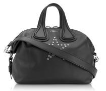 Nightingale Schwarze Mittelgroße Handtasche mit Stern