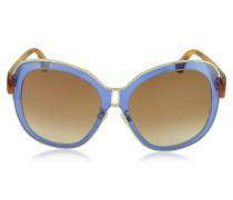 BA0003 55B Damen-Sonnenbrille aus Acetat in blau & gold
