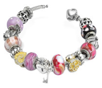 Amore e passione - Romantisches Armband aus Sterling Silber