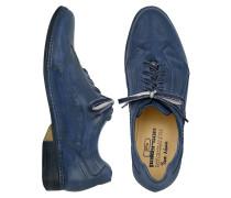 Italienische Schnürschuhe von Hand gearbeitet aus Leder in blau