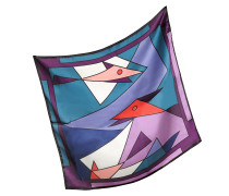 Bandana aus Seide mit geometrischem Print