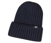 British Wool Beanie-Mütze mit Logo