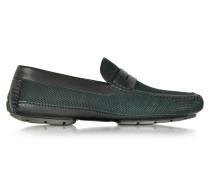 Bahamas Driver Schuhe aus perforiertem Nubuck mit Gummisohle