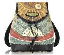 Planetarium Coated Canvas and Leather Small Backpack