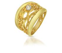 Ring aus 18k Gelbgold mit Diamant