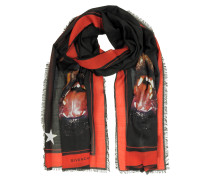 Rottweiler Printed Cashmere and Silk Stole