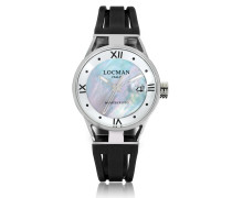 Montecristo Stainless Steel and Titanium Mother of Pearl w/Silicone Strap Women's Watch