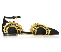 Machine Age Ballerina-Sandale aus Wildleder und Leder