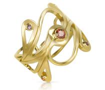 Mari Splash - Ring aus vergoldetem Silber