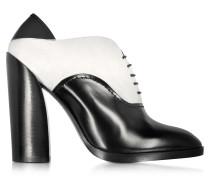 Francesina Bootie aus Leder und Wildleder in schwarz & weiß