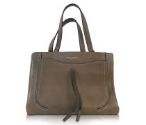 Maverick Teak Leather Tote Bag