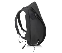 Isar Eco Yarn Medium Rucksack in schwarz