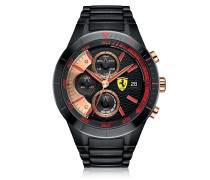 Red Rev Evo Black Stainless Steel Men's Chrono Watch