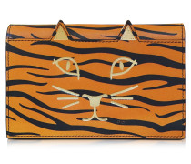 Feline Orange Tiger Tasche aus bedrucktem Leder
