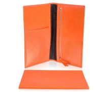 Classica Collection - Reise- Dokumentenmappe aus Kalbsleder in orange