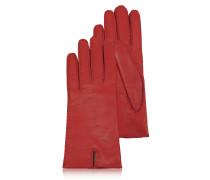 Rote Damenhandschuhe aus italienischem Leder