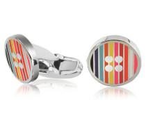 Herren-Manschettenknöpfe mit Logo und Streifen