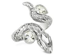 Schlangen-Ring aus Edelstahl mit Kristallen