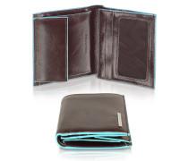 Herrenbrieftasche aus Leder mit ID Fenster