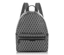 Ikon Black Coated Canvas Men's Backpack