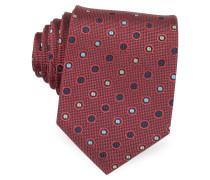 Gewobene Krawatte mit multicolor Punkten