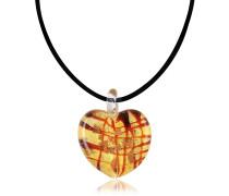 Passione-Herzanhänger aus Muranoglas in schwarz-weiß