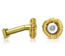 Manschettenknöpfe aus 18k Gold mit Diamant