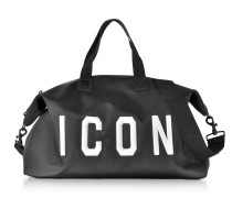 Icon Black Techno Fabric Men's Duffle Bag