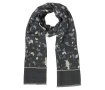 Herrenschal aus Wolle und Seide in schwarz & grau
