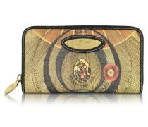 Planetarium Damen Brieftasche mit Rundumreißverschluss aus beschichtetem Canvas