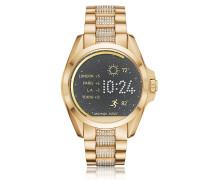 Bradshaw Damen Smartwatch aus PVD Edelstahl in goldfarben