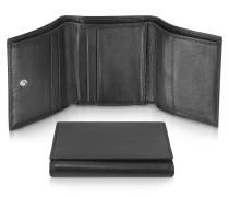Classica - Damen-Brieftasche aus Kalbsleder in schwarz