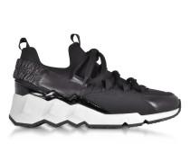 Trek Comet Black Neoprene and Leather Sneaker