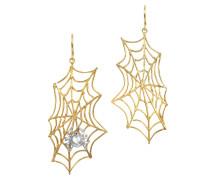 Spinnennetz Ohrringe in Bronze und Silber