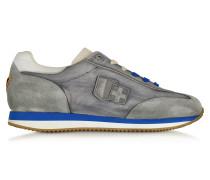 Leonardo Sneaker aus Stoff und Wildleder in grau