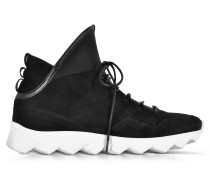 Dedalo Black Nubuck and Nappa Leather Men's Sneakers
